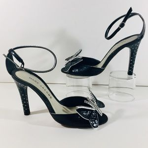 Marc Jacobs Stunning Black & Jeweled Heels